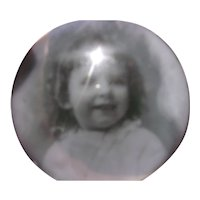 Vintage Paperweight with Picture of Small Girl Inside