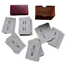 Card Game Flinch from 1903 in Original Box and Instructions