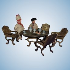 A Sweet Vintage Dining Set with Tea Service Miniatures