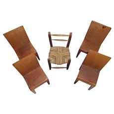 Wonderful Old Vintage Doll Chairs