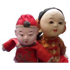 2 Small Adorable Chinese Dolls