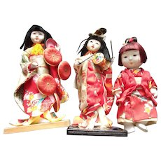 A Marvelous Group of Vintage Japanese Dolls