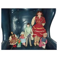 A Wonderful Group of Vintage Dolls Including the Snake Charmer and Helen Biggart