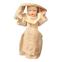 A Wonderful Old Vintage Composition Nun Doll