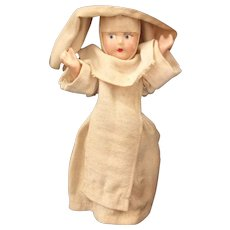 A Wonderful Old Vintage Composition Nun Doll