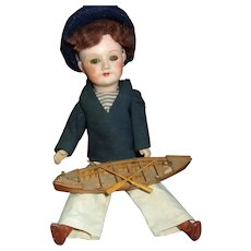 SFBJ French Composition 10 Inch Boy with Boat