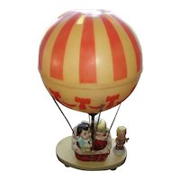 Vintage Hot Air Balloon Lamp with Sweet Boy and Girl As Sailors