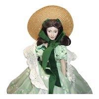 Vintage Franklin Mint Scarlet O'Hara ( Gone With The Wind ) Doll
