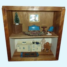 Great Double Decker Vintage Room Box