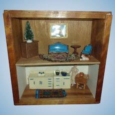 Great Double Decker Vintage Room Box