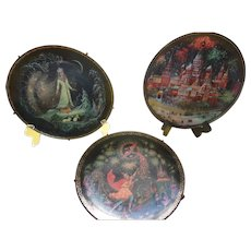 3 Collector Plates from Russia that are Stunning