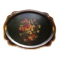 Vinrage Large Russian Tray ( Hand Painted on Metal )