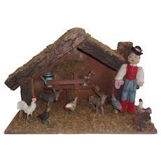 Great Vintage Farm Animals with Stable