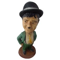Great Vintage large Chalkware of Oliver Hardy