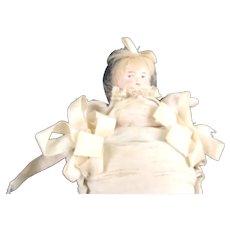 Rare German Bisque Pillow Doll