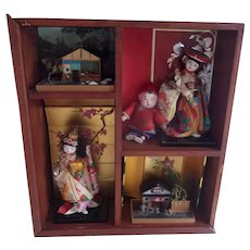 An Amazing Vintage Shadow Box with Lots of Vintage Items