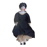 A Sweet Antique China Head Doll with the Brightest Pink Cheeks