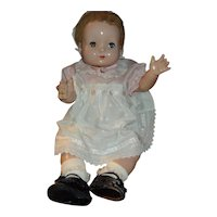 Wonderful Big Baby Effanbee Vintage Composition Doll Unmarked