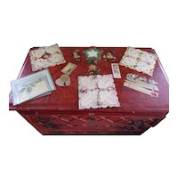 A Box Lot of Old Victorian Paper Lace and Embossed Die Cut Valentines Cards and Other Goodies