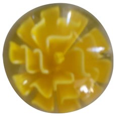 Beautiful Vintage Paperweight with Yellow