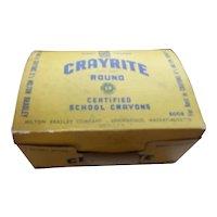 A Great Vintage Milton Bradley Case of New Unopened Crayite School Crayons