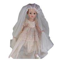 Vintage 1950's Lovely Effanbee Walker Doll in Original Outfit