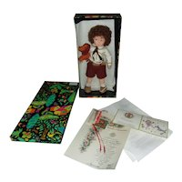 Another Vintage Lenci Boy Doll ( Aldo ) All Original with Box, Tags and Certificate