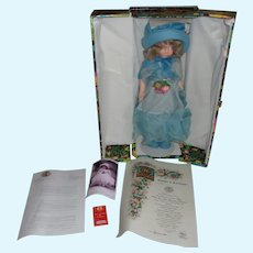 Gorgeous 21 Inch Vintage Lenci ( Celeste ) Doll All Original In Box with All Paperwork and Stand