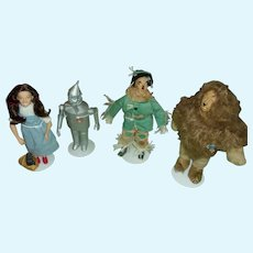 Vintage Wizard of Oz Dolls Featuring Dorothy, Tin Man, Scarecrow and Cowardly Lion