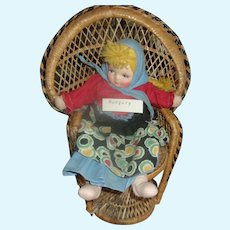 A  Very Well Made Vintage Wicker Peacock Dolls Chair