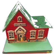 Tin School House Lollipop Bank