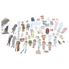 Paper Dolls with Lots of Clothes 55 Pieces