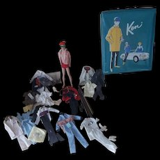 Vintage Mattel Ken with Case and All His Outfits - Red Tag Sale Item