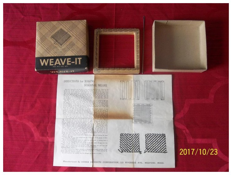 Vintage Donar Weave It With Box And Instructions Mimis Attic