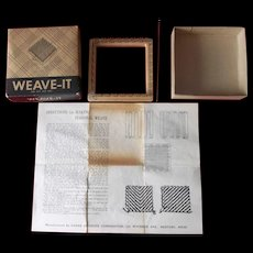 Vintage Donar Weave-It with Box and Instructions