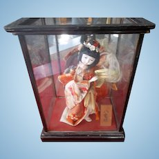 Spectacular Smaller Japanese Doll in Case