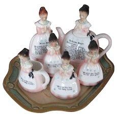 Vintage Praying Enesco Tea Set