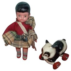 The Sweetest Little Japanese Doll and Her Panda