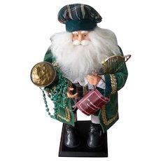 St. Patricks Day Irish Santa Doll with His Pot of Gold