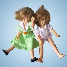 A Pair of Vintage 1950's Ideal Shirley Temple Dolls