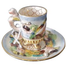 Vintage Capodimonte Cup and Saucer