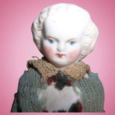 A Wonderful Early Parian Dollhouse Doll