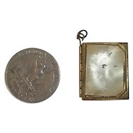 A Sweet Miniature Double Gold Tone Picture Frame / Locket