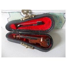 A Wonderful Vintage Miniature Violin