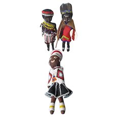 A Wonderful Group of Vintage African Tribe Dolls - Red Tag Sale Item