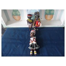 A Wonderful Group of Vintage African Tribe Dolls