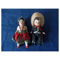 An Adorable Vintage Composition Couple From Mexico