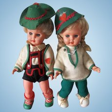 A Real Sweet Vintage Pair of Dolls