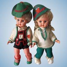 A Real Sweet Vintage Pair of Dolls