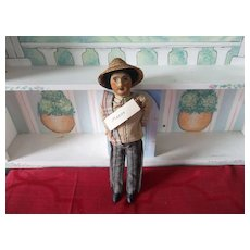 A Vintage Detailed Cloth man Doll From Mexico